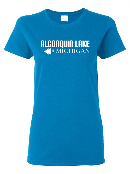 Algonquin Lake White Logo ladies T-Shirt