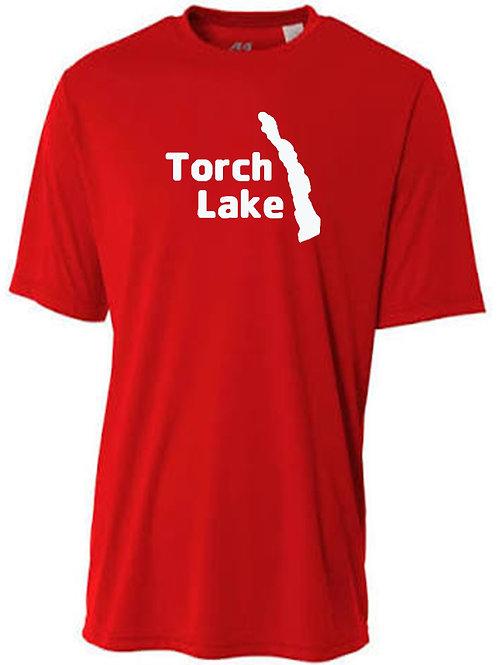 Torch Lake White Logo Sun Tee