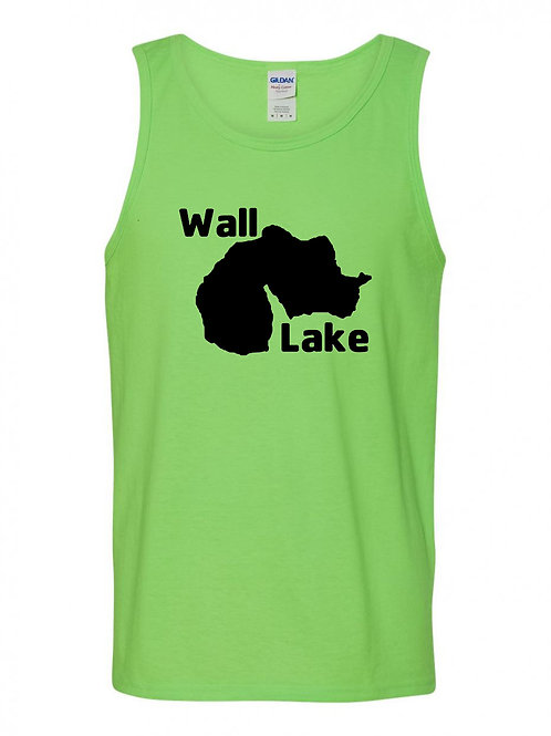 Wall Lake Black Logo Tank Top