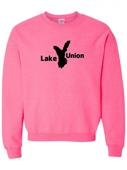 Lake Union Black Logo Crewneck