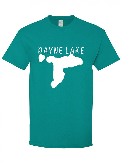 Payne Lake White Logo T-Shirt