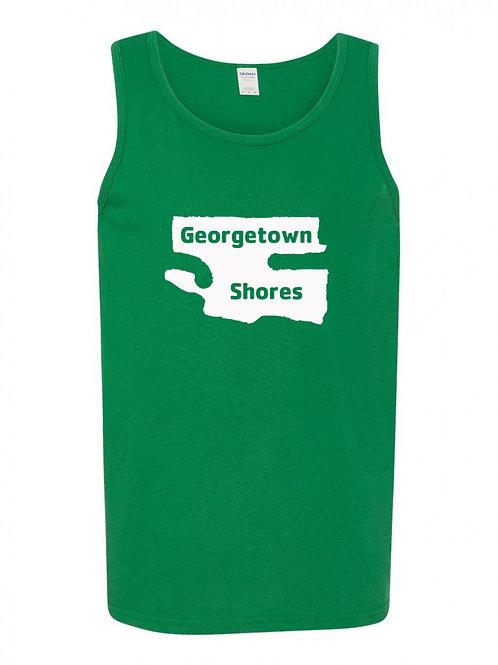 Georgetown Shores White Logo Tank Top