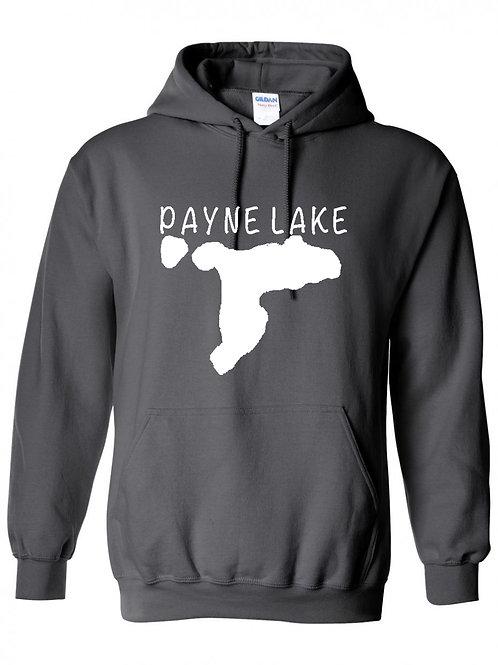 Payne Lake White Logo Hoodie