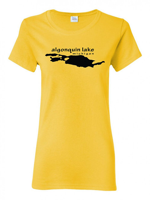 Algonquin Lake Black Logo Ladies T-Shirt