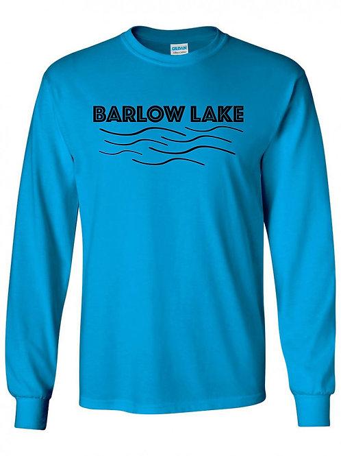Barlow Lake Black Wave Long Sleeve T-Shirt
