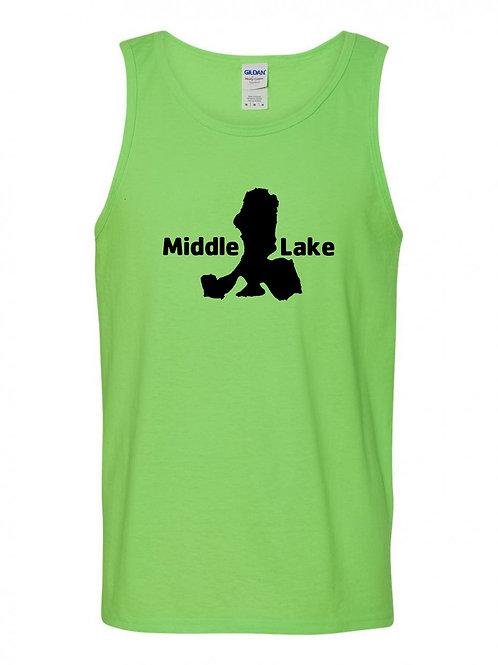 Middle Lake Black Logo Tank Top