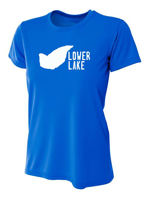Lower Lake Logo Women's Sun Tee