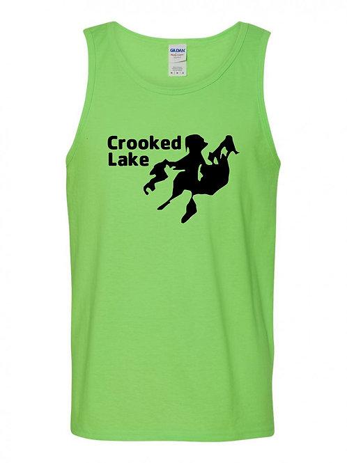 Crooked Lake Black Logo Tank Top