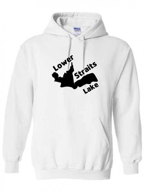 Lower Straits Lake Black Logo Hoodies