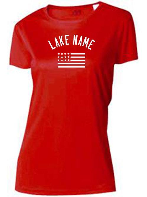 Any Lake 4th of July Women's Sun Tee