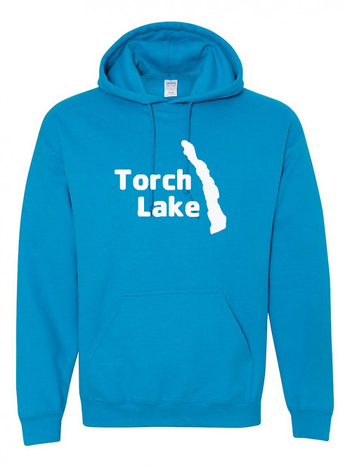 Torch Lake White Logo Hoodies