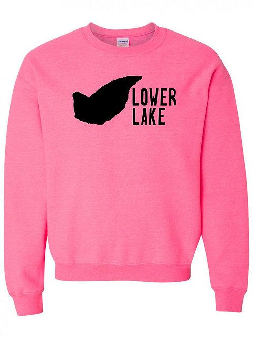Lower Lake Black Logo Crewneck