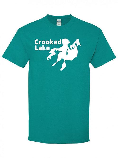 Crooked Lake White Logo T-Shirt