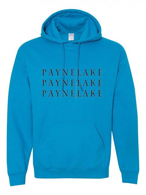 Payne Lake Black Logo Hoodies