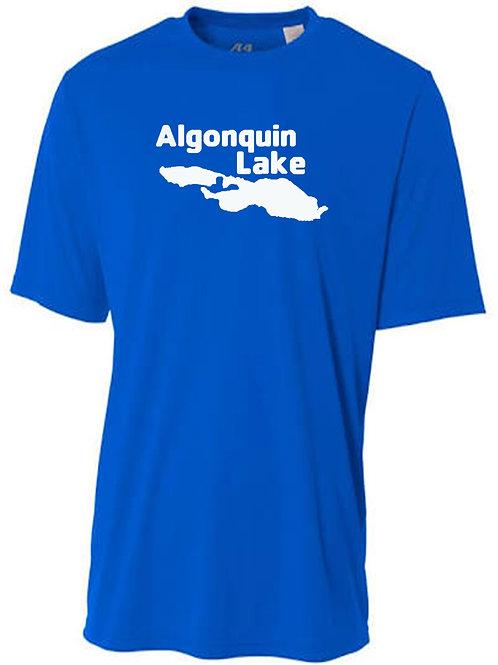 Algonquin Lake White Logo Sun Tee