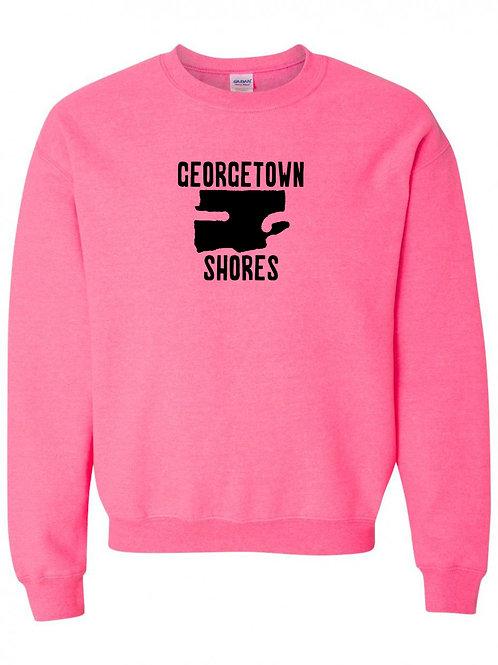 Georgetown Shores Black Logo Crewneck