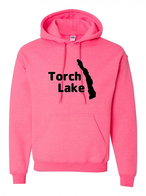 Torch Lake Black Logo Hoodies
