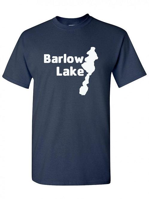 Barlow Lake White Logo T-Shirt