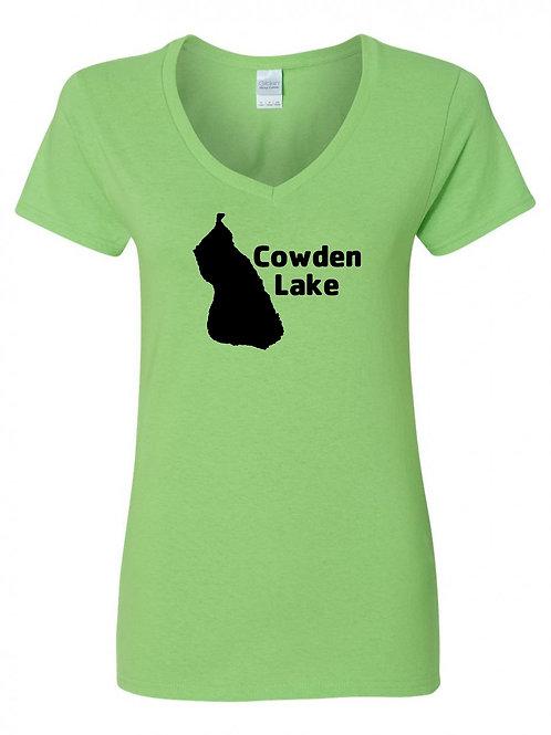 Cowden Lake Black Logo V-Neck