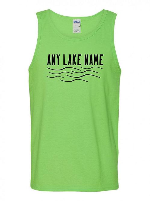 Any Lake Wave Logo Tank Top