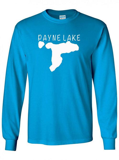 Payne Lake White Logo  Long Sleeve