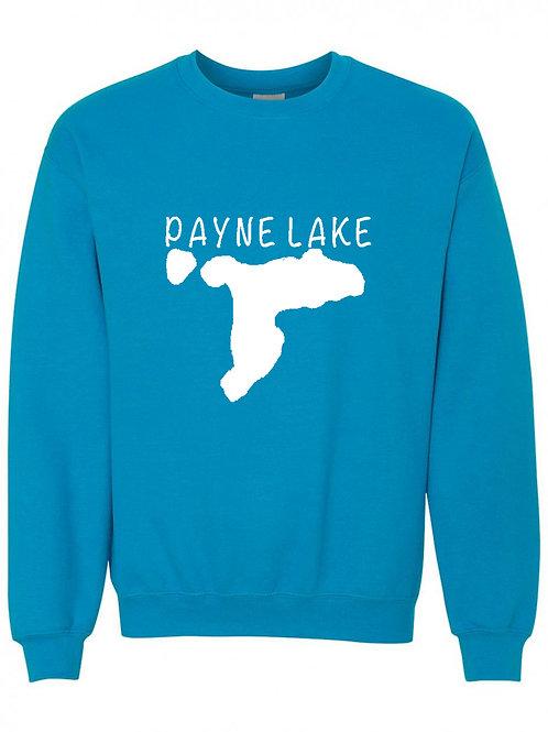 Payne Lake White Logo Crewneck