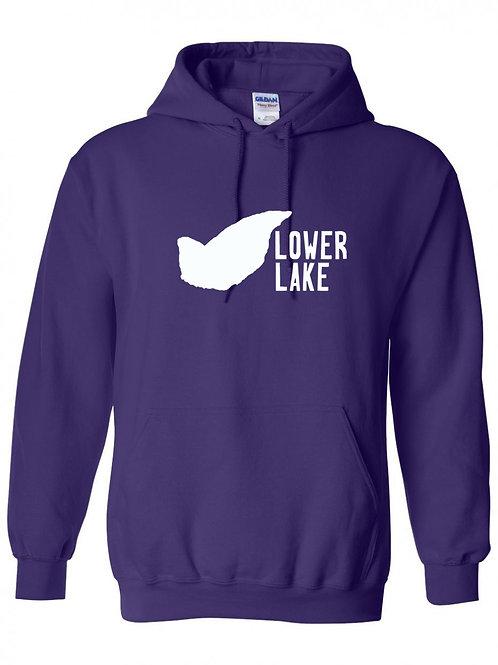 Lower Lake White Logo Hoodie