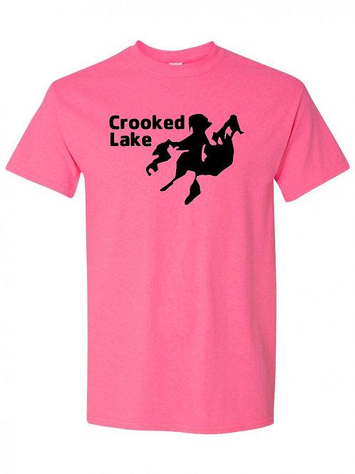 Crooked Lake Black Logo T-shirt
