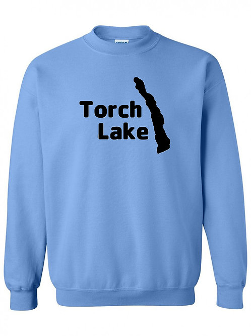 Torch Lake Black Logo Crewneck