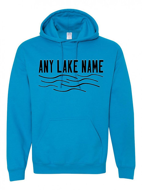 Any Lake Wave Logo Hoodie