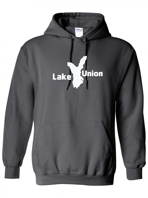 Lake Union White Logo Hoodie