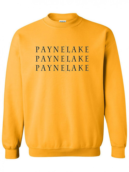 Payne Lake Black Logo Crewneck