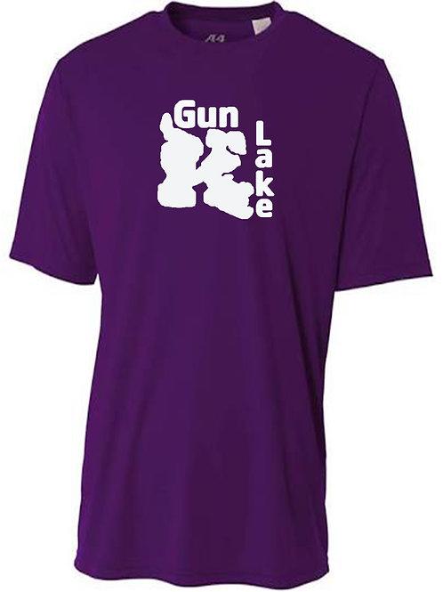 Gun Lake White Logo Sun Tee