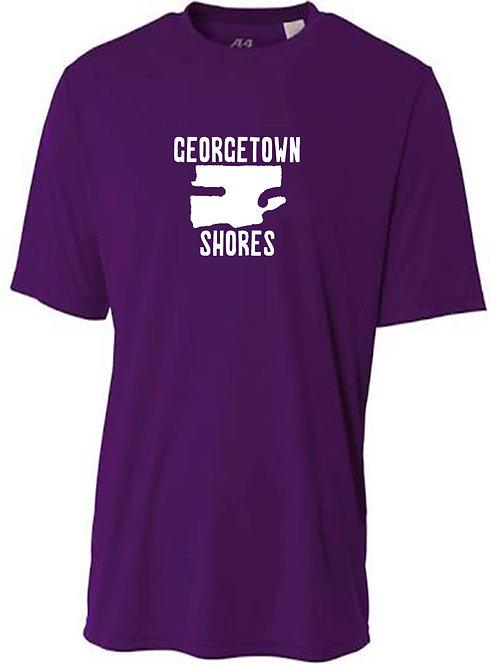Georgetown Shores White Logo Sun Tee