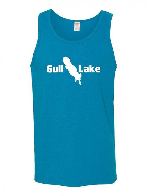 Gull Lake White Logo Tank Top