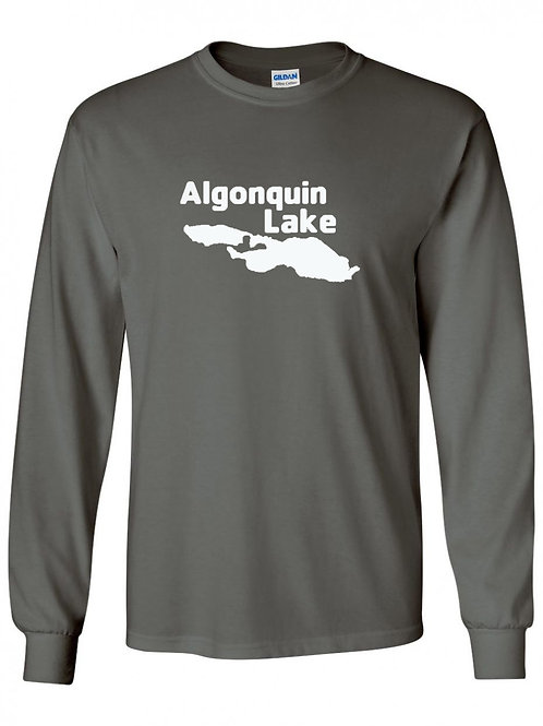 Algonquin Lake White Logo Long Sleeve