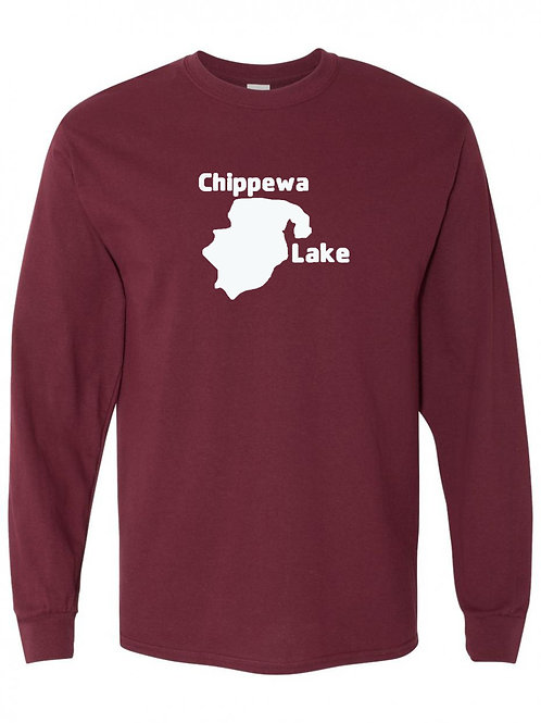 Chippewa Lake White Logo Long Sleeve