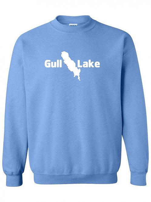 Gull Lake White Logo Crewneck
