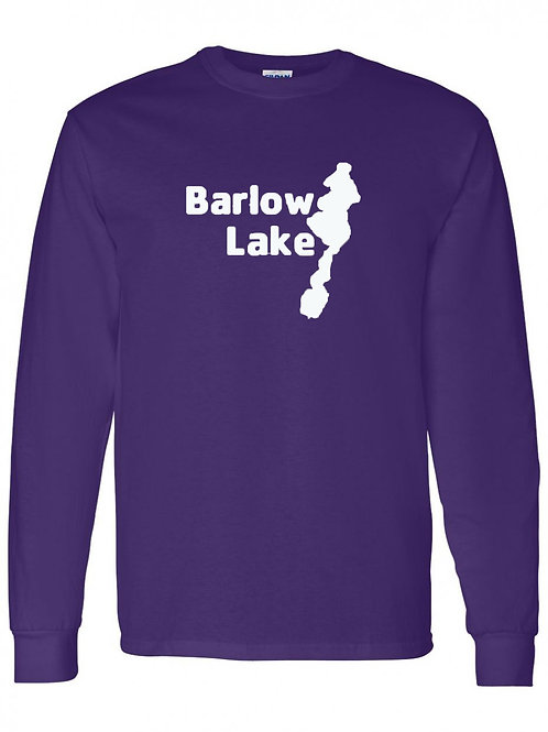 Barlow Lake White Logo Long Sleeve