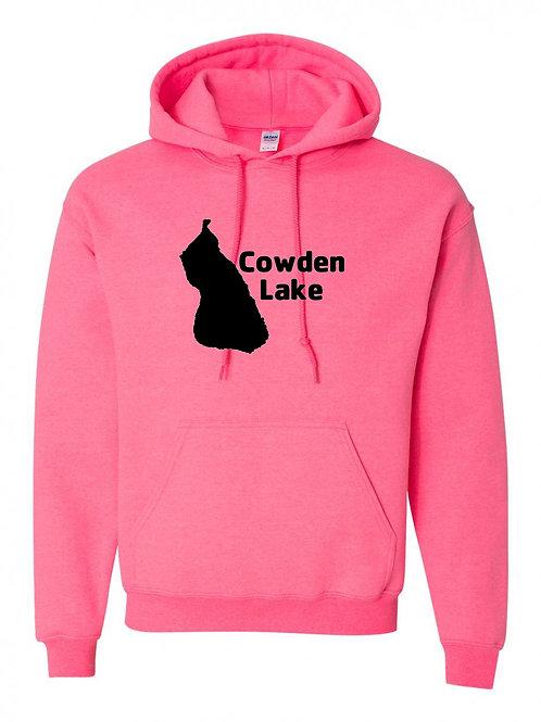 Cowden Lake Black Logo Hoodie