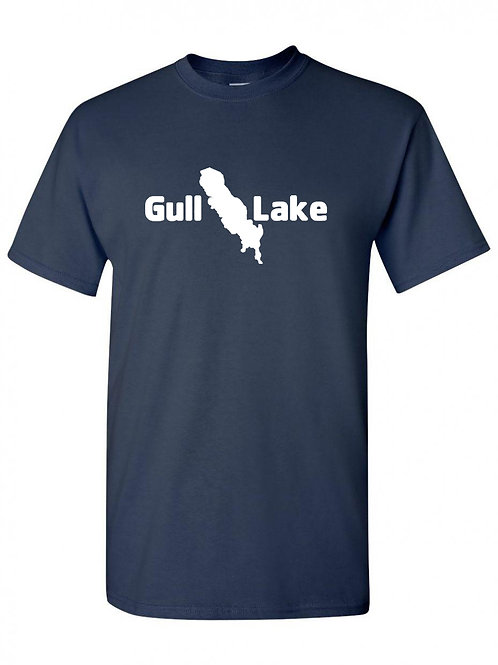 Gull Lake White Logo T-Shirt