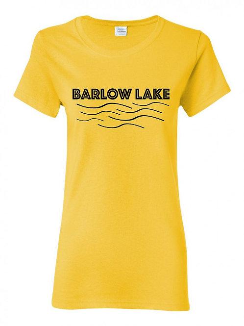 Barlow Lake Black Wave Ladies T-Shirt