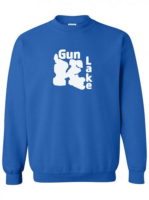Gun Lake White Logo Crewneck
