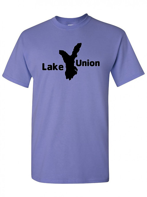 Lake Union Black Logo T-Shirt