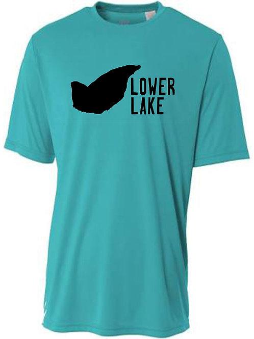 Lower Lake Black Logo Sun Tee