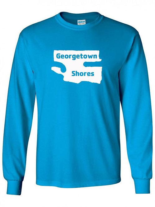Georgetown Shores White Logo Long Sleeve