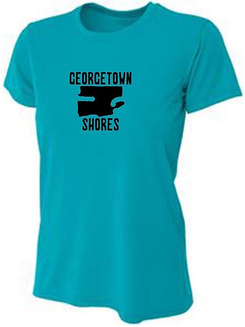 Georgetown Shores Black Logo Women's Sun Tee
