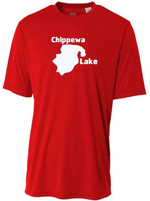 Chippewa Lake White Logo Sun Tee