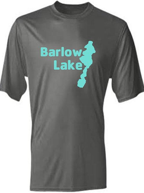 Teal Barlow Lake Logo Sun Tee
