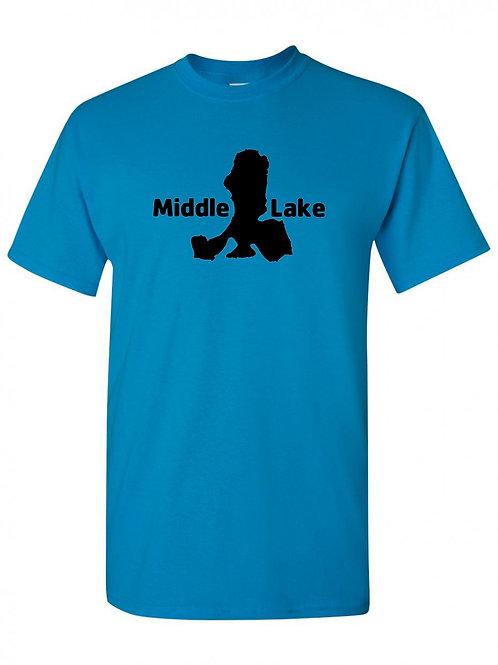 Middle Lake Black Logo T-Shirt